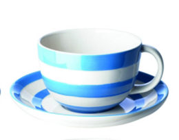 Cornishware Cup & Saucer
