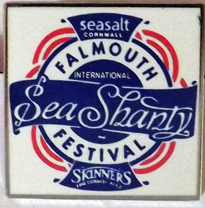Falmouth International Sea Shanty Festival Souvenir Pin Badge
