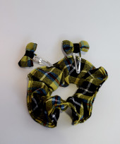 Cornish National Tartan Scrunchie and Clips