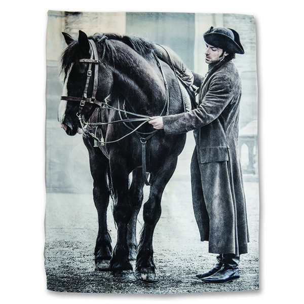 Ross Poldark and Horse Tea Towel