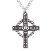 St Justin Cross Necklace