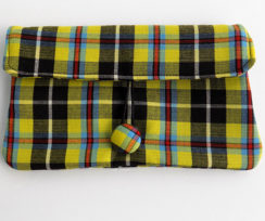 Cornish National Tartan Clutch Bag