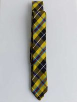 CORNISH NATIONAL TARTAN SKINNY SILK TIE